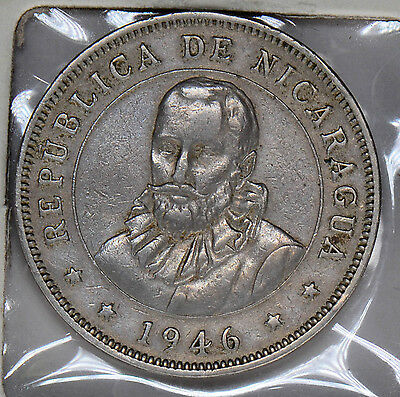 N0072 Nicaragua 1946  50 Centavos  combine shipping