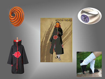 Uchiha Madara Obito Tobi Cosplay Costume Naruto Akatsuki Halloween Clothing Mens