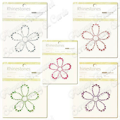 Kaisercraft Self Adhesive Rhinestone Pictures ~ Flower ~ 5 Colours Available