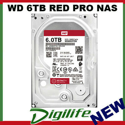 "Western Digital WD 6TB Red Pro 3.5"" SATA Internal NAS Hard Drive HDD WD6003FFBX"