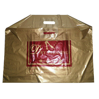 """Extra Large 26""""*20"""" Golden Mean Handle Plastic Carrier Bags"""