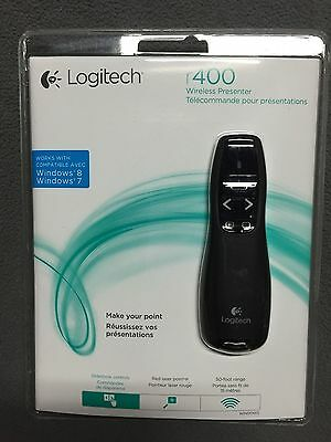 Brand New Logitech R400 Presenter Red Laser Pointer Wireless USB Receiver PPT