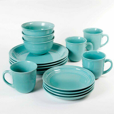 Merveilleux 16 Piece Round Dinnerware Set, Kitchen Stoneware Plates, Dishes, Service  Bowls