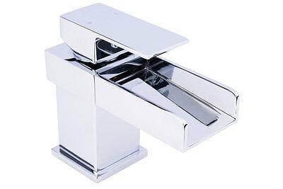 Aquariss ® Mitigeur de lavabo style cascade Relax Waterfall - robinet chrome