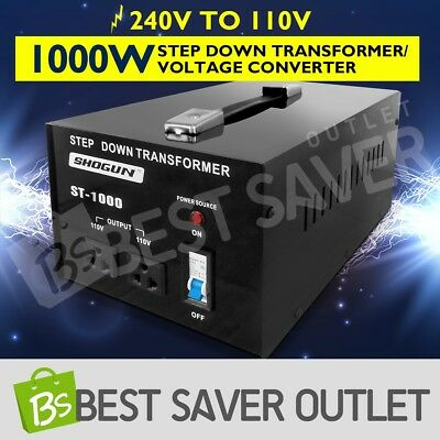 Step Down Transformer & Voltage Converter With Output 2 Plugs 1000W