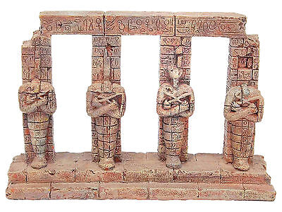 Ancient Pharaoh Egyptian Columns Aquarium Ornament Fish Tank Decoration