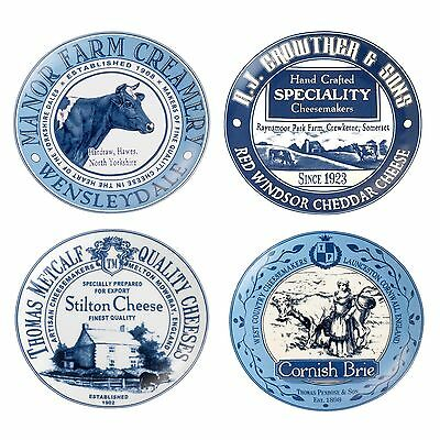 Gourmet Vintage British Side Plates For Cheese Set of 4