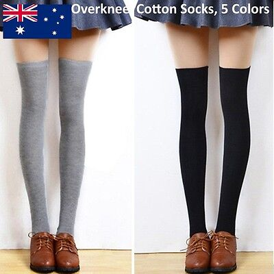 Fashion Thigh High Over Knee Socks Long Cotton Stockings For Girls Ladies Women