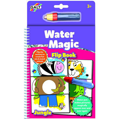 Galt Water Magic Jungle Flip Book - Children's Animal Painting Travel Water Book