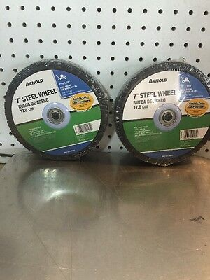 "2 - Arnold Steel Wheels Diamond Tread 7"" X 1.50"" 55 Lbs. Max. Load"