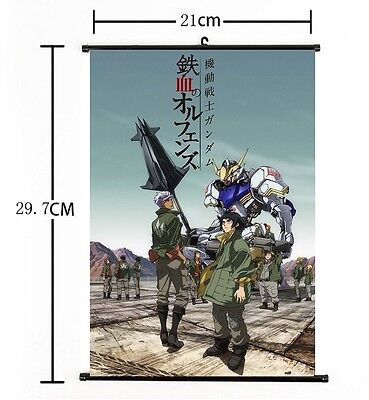 "Hot Japan Anime Suit Gundam Iron-Blooded Home Decor Poster Wall Scroll 8""x12"""
