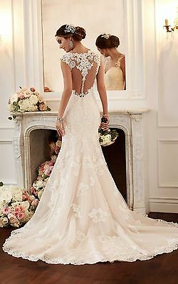 New white / ivory wedding dress bridal gown custom size6 8 10 12 14 16+