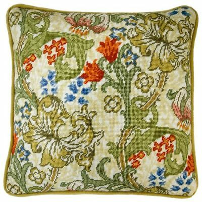 Golden Lily Tapestry Panel Cushion Kit