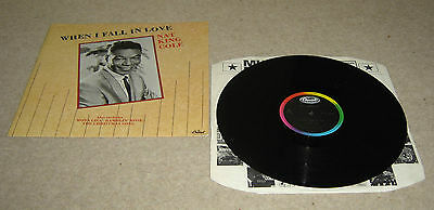 """Nat King Cole When I Fall In Love 12"""" Single A1 B1 Pressing - EX"""