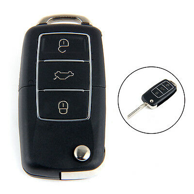 3-Button Remote Key Fob Case Flip Key Shell For Volkswagen Bora Beetle Golf Polo