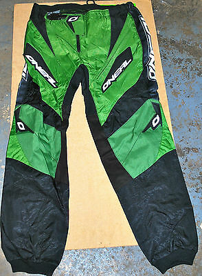 "Oneal Element  Adult Motocross Quad Pants Trousers Green Black 32"" & 34"""