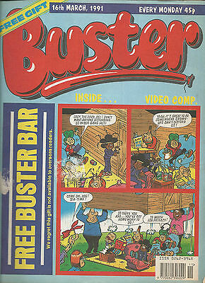 Buster Comic 16Th March 1991 Fuss Pot - Vid Kid - Dracula - Joker And Lots More