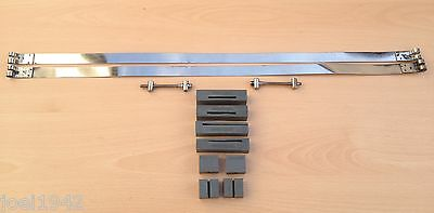 Stainless Steel Standard Tank Straps & Trunnions & Tank Rubbers. For Lambretta G