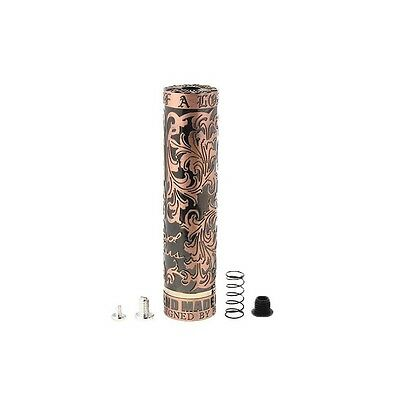 Royal Plus Hearts 18650 Mech Mod Stainless Steel Black Gold Flower Vaping Cloud
