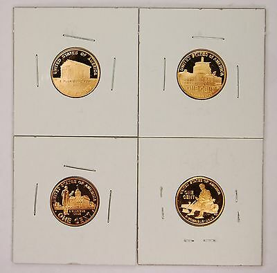 2009 S Lincoln Bicentennial Proof Penny Cent Memorial Set ALL 4 Coins