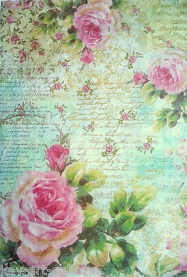 Rice Paper for Decoupage Decopatch Scrapbooking Sheet Craft Vintage Garden