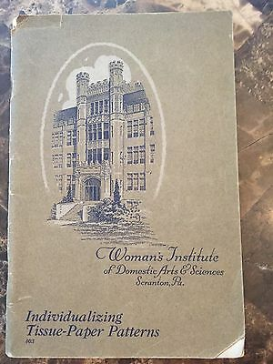 Scranton, PA 1923 Woman's Institute Tissue-Paper Patterns Sewing