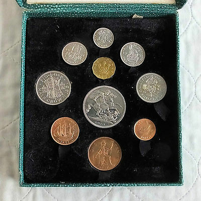 UK 1951 FESTIVAL OF BRITAIN 10 COIN  PROOF YEAR SET - green box