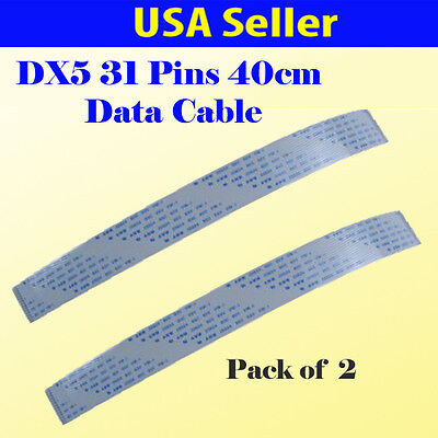 2x  Data Cable for Mimaki JV33 JV5 Data Cable 31 Pins 40CM DX5 Printhead Solvent