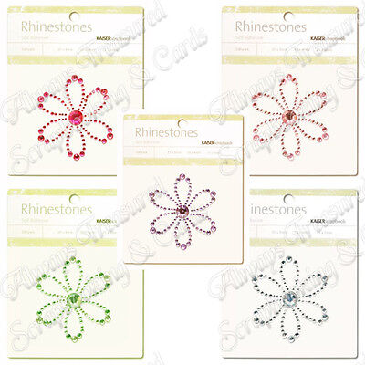 Kaisercraft Self Adhesive Rhinestone Pictures ~ Blossom ~ 5 Colours Available