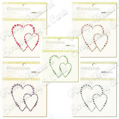 Kaisercraft Self Adhesive Rhinestone Pictures ~ Heart ~ 5 Colours Available