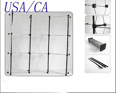 Economic Exhibition Trade Show Pop Up Display with Metal Pop Up Frame 3*5