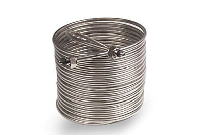 Jockey Box Coil 3/8-inch 50' Stainless Steel Tubing with Fittings, No Tax, Free
