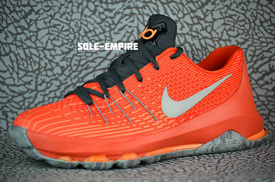 huge discount 214a4 09404 Nike KD 8 GS 768867-808 Total Orange Reflect Silver Team Kevin Durant  Warriors