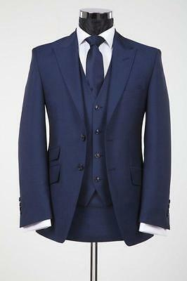 Navy Mens Wedding Suits Groomsmen Groom Tuxedos Formal 3 Piece Business Suits