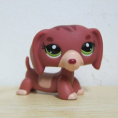 Hasbro Littlest Pet Shop LPS Animals Loose Toys Red Brown Dachshund Dog Rare