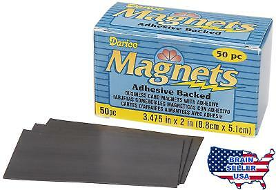 Darice 1017-78 Business Card Magnet, 3.475-Inch, 50-Pack, New, Free Ship