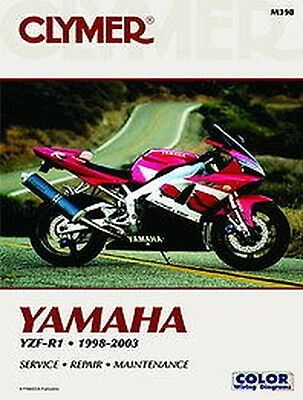Yamaha R1 YZF-R1 YZFR1 1998-2003 Clymer Manuale M398 NUOVO