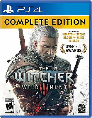 NEW Witcher 3: Wild Hunt -- Complete Edition (Sony PlayStation 4, 2016)