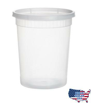 25 sets 32oz plastic soup/Food container with lids, New, Free Ship