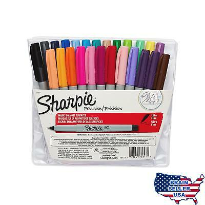 Sharpie Permanent Markers, Ultra Fine Point, Assorted Colors, 24-Count, New
