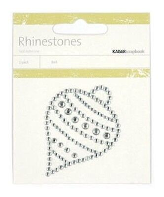 Kaisercraft Self Adhesive Rhinestone Pictures SB1665 ~ Ornament ~ Silver