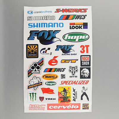 4x Outdoor BMX MTB Bike Cycling Bicycle Decal Cool Sheet Stickers Sticker HOT