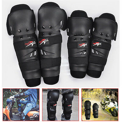 Adult Elbow Knee Shin Armor Guard Pads Protector for Motorcycle Bike 4Pcs Kit