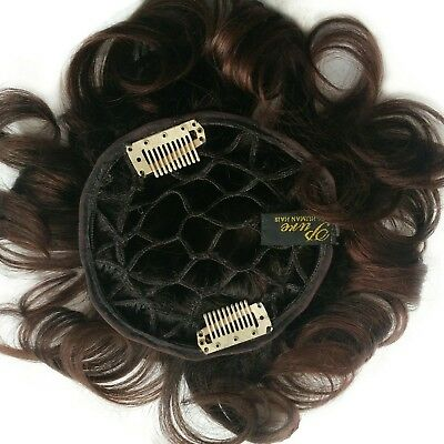 """100% Human Hair Pull Thru Wiglet with Soft Honeycomb Base w/ wire edges 6"""" long"""