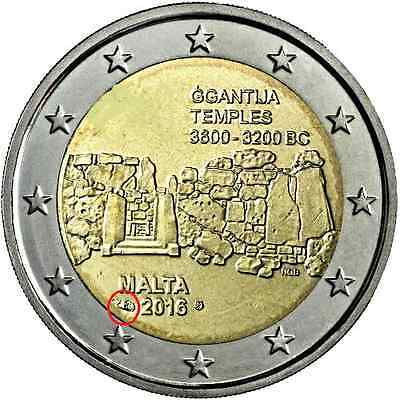 #rm# 2 Euro Commemorative Malte 2016 - Temple *mint Mark Pessac*
