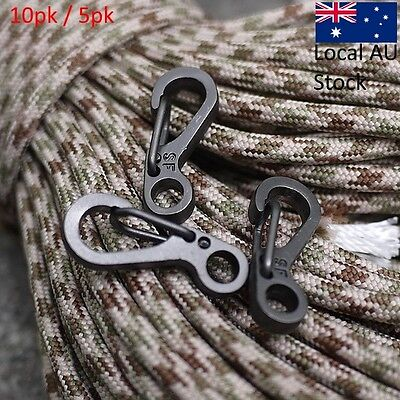10&5PCS clip Clasps Carabiners EDC Keychain Camping Hooks Tactical Survival Gear