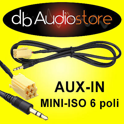 Cavo Interfaccia AUX In Out adapter Lancia Musa x lettore mp3 ipod CD Car
