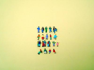 Lot of 100pcs 19styles NEW painted model 1/160 N scale figures people passengers