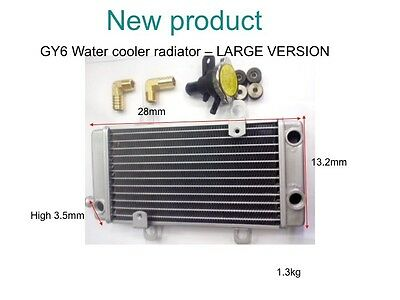 TAIDA HIGH PERFORMANCE GY6 RADIATOR (LARGE) 280mm long x 132mm tall (NEW)