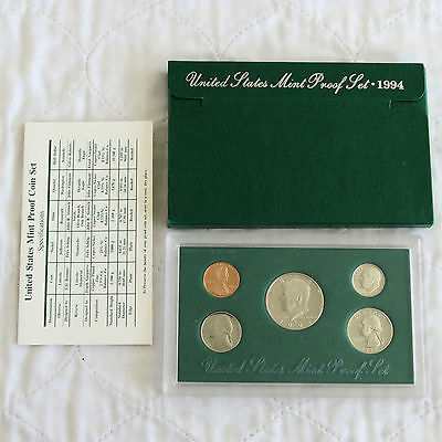 USA 1994 s 5 COIN PROOF YEAR SET - complete